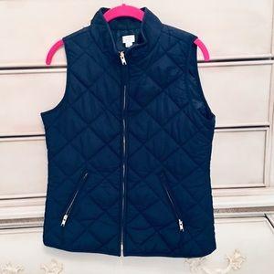Navy vest. True Navy puffer vest. Small EUC